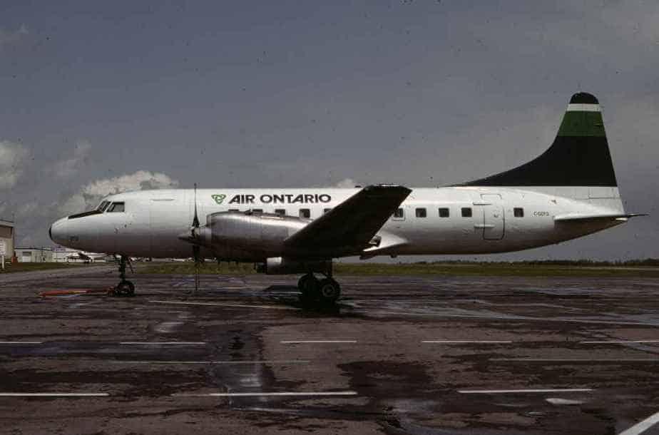 SP4628 Air Ontario CV580 C-GDTD YYZ June1983