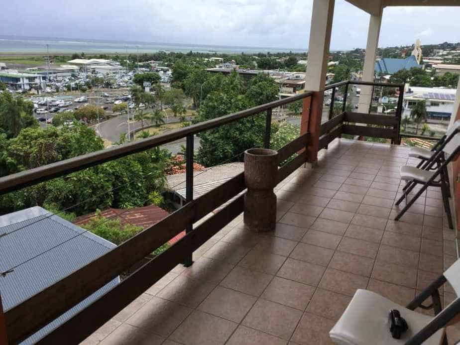 Nice airport views can be savoured from the balcony for hotel guests at the Tahiti Airport Hotel.