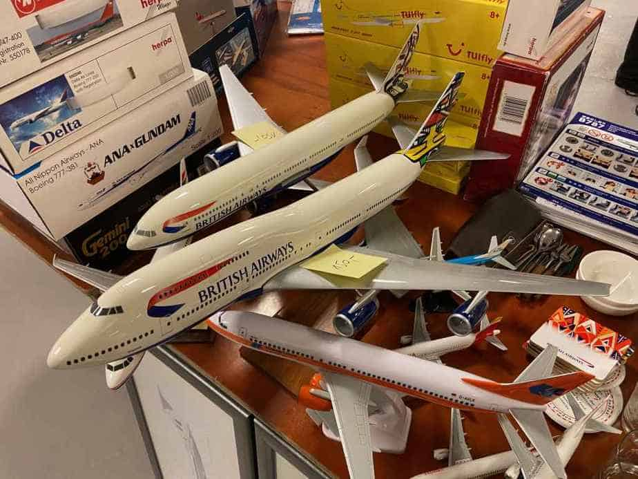 Two very nice 20 year old British Airways Pacmin models in 1/100 scale