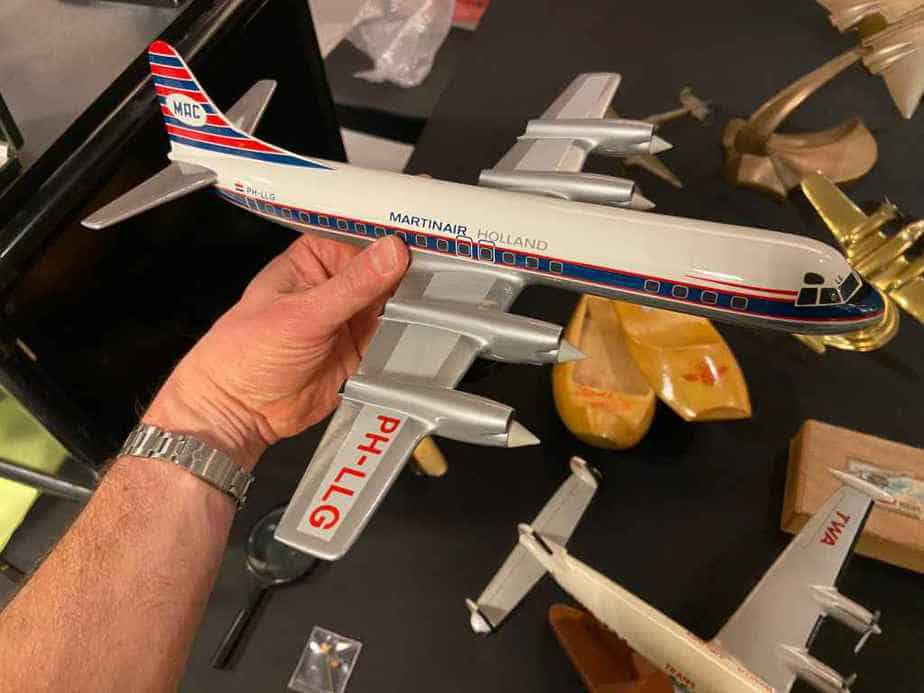 This is a 1/100 Vogelaar Martinair Lockheed L-188 Electra which is a lovely model