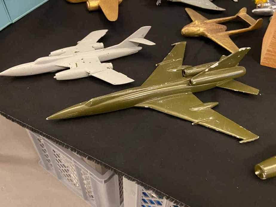 A nice selection of Swiss Air Force metal ID models of Russian military aircraft.