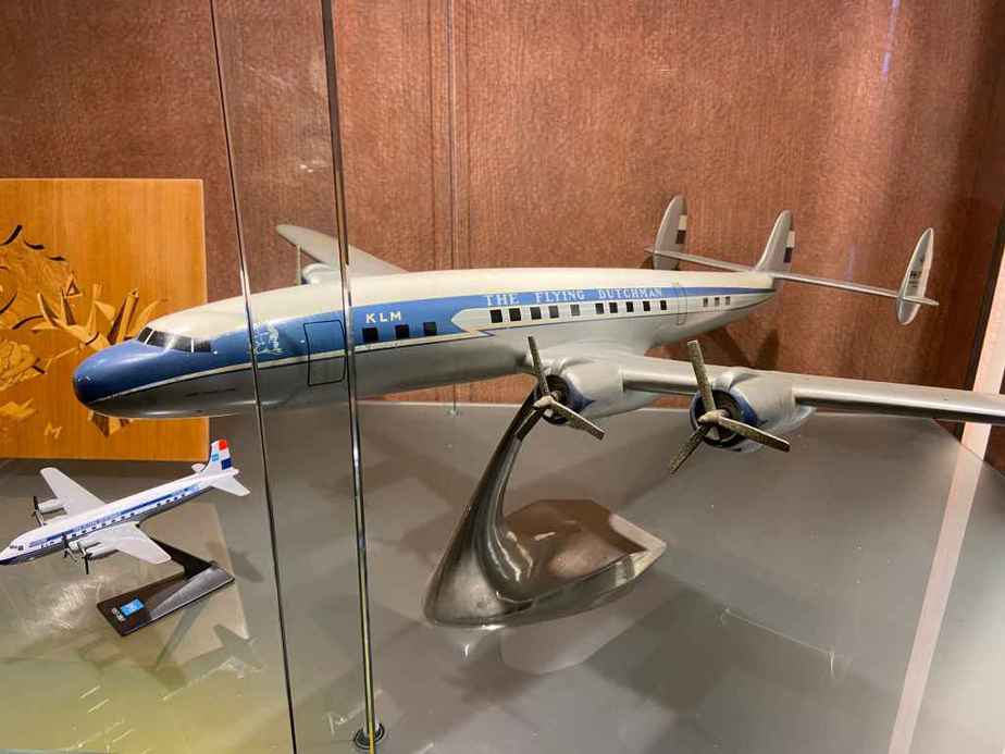 KLM Lockheed L-1049 Super Constellation in 1/50 scale made of metal by Raise Up, as part of the Aviodrome Aviation Museum.