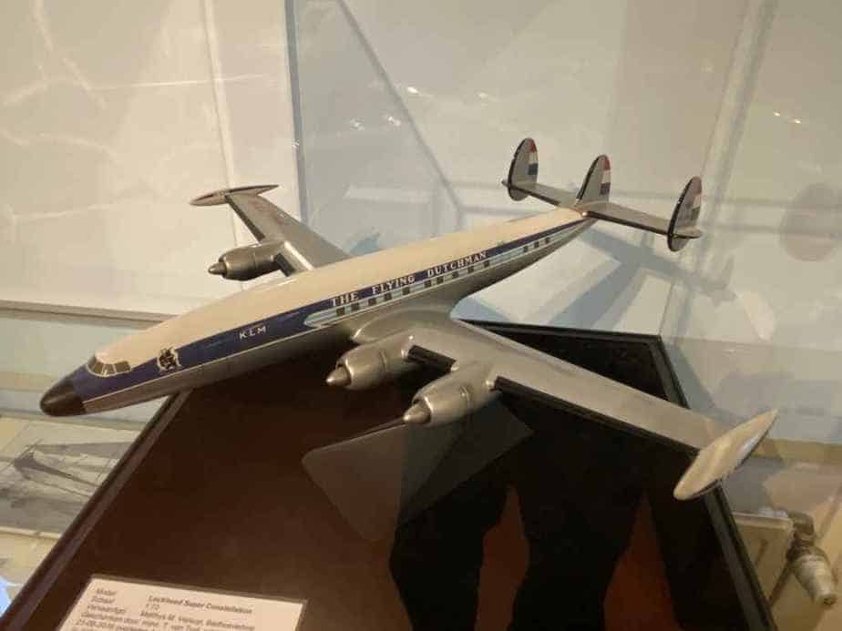 KLM Lockheed L-1049 Super Constellation in 1/72 scale made of metal by Verkuyl, as part of the Aviodrome Aviation Museum.