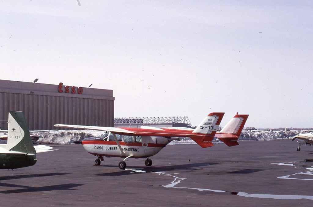 Canadian Coast Guard Cessna 337 CF-DOL at Montreal Dorval May 1971.