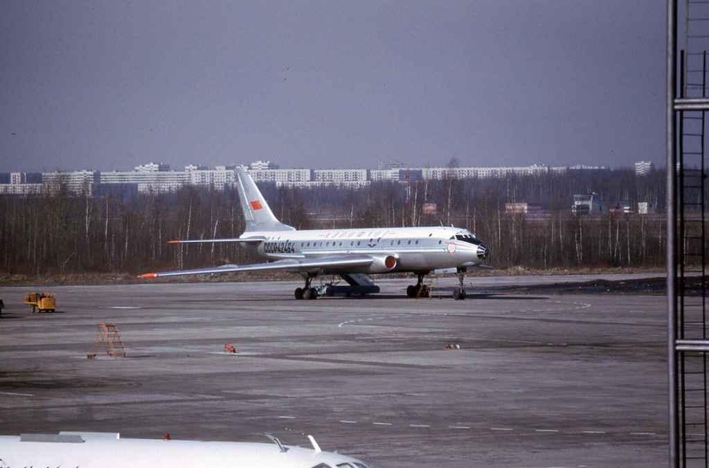 Aeroflot Tupolev Tu-104 CCCP-42464 at Moscow in April, 1974. (Photo by Dr. John Blatherwick)