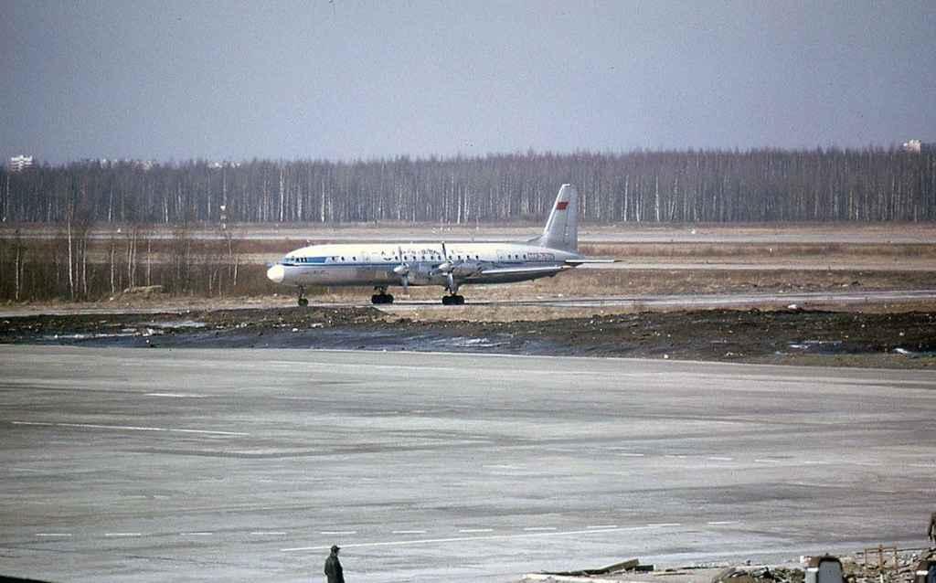 Aeroflot IL-18 CCCP-75229 at Moscow APril 1974. (Photo by Dr. J. Blatherwick)