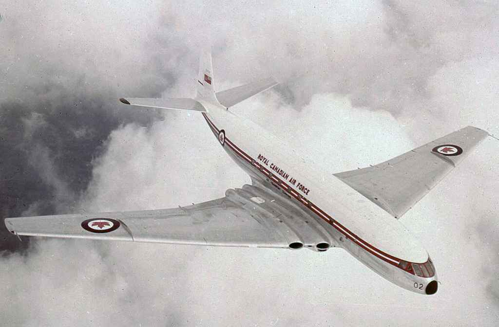 A very rare colour transparency of an RCAF Comet 1 photographed inflight in the very early 1950s.