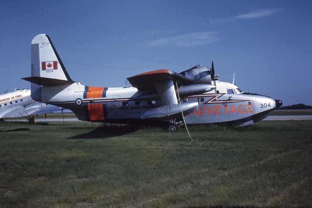 RCAF HU-16 Albatross 9304 in storage at Saskatoon July 1971.