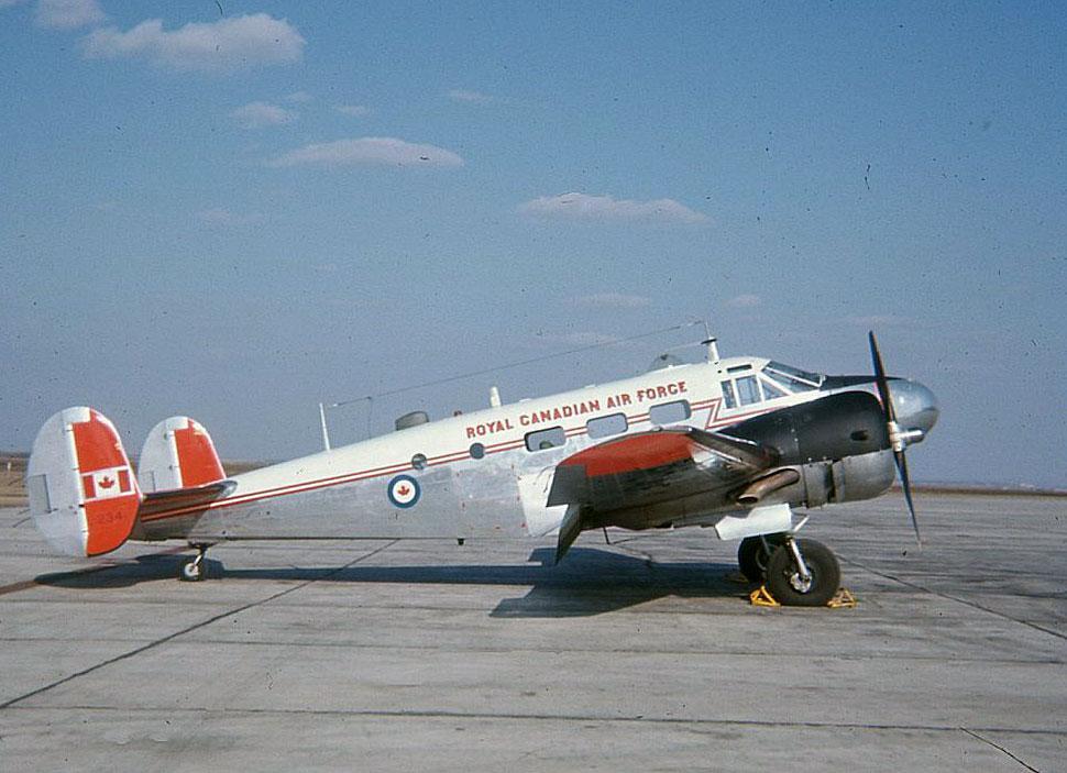 RCAF C-45 Beech 18 1234 at Calgary 1967.